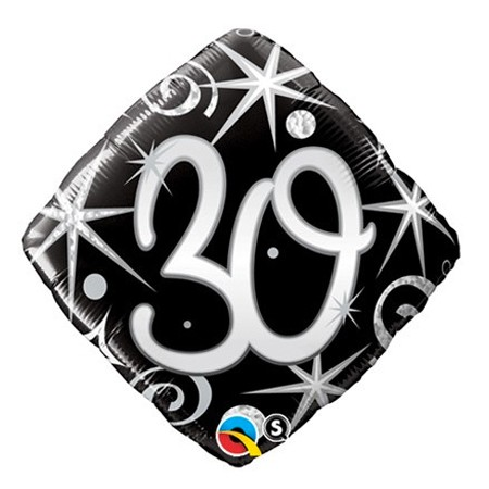 Number 30<br> Diamond Balloon