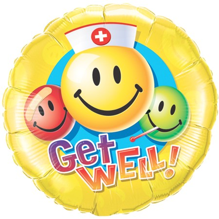 Get Well! Smiling<br> Nurse Balloon
