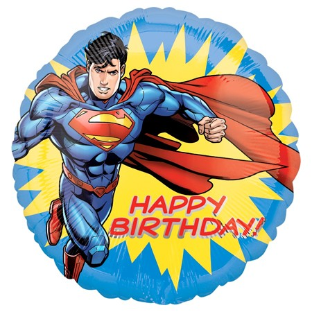 Superman Birthday<br> Balloon(See Substitution Notice)