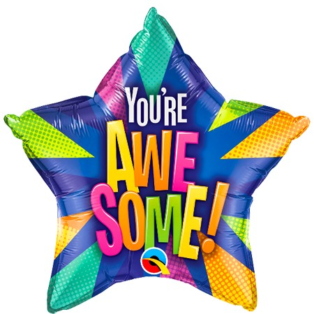 You're Awesome!<br> Star Balloon