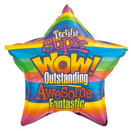 WOW! Outstanding<br> Star Balloon