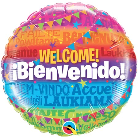 Welcome!18in Mylar Balloon