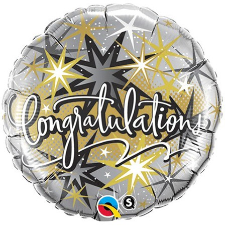 Elegant Congratulations<br>18in Mylar Balloon