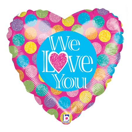We Love You<br> Balloon (Design may vary)