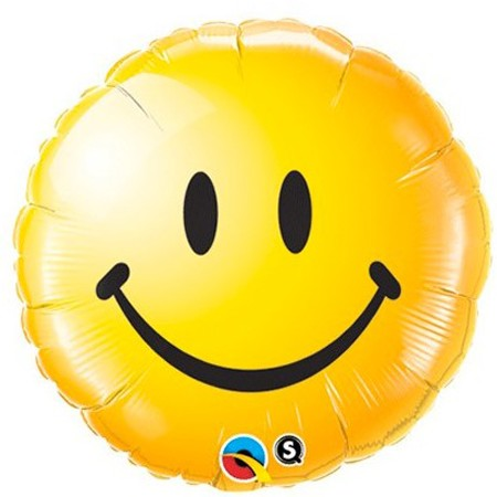Smiley Face Yellow18in Mylar Balloon