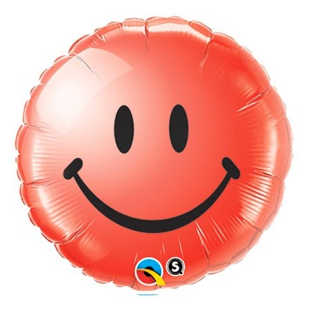 Smiley Face Red<br> Balloon