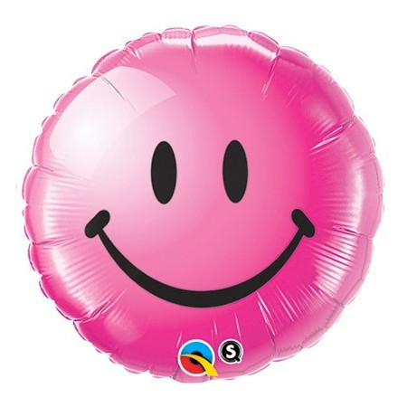 Smiley Face Wild Berry<br> Balloon