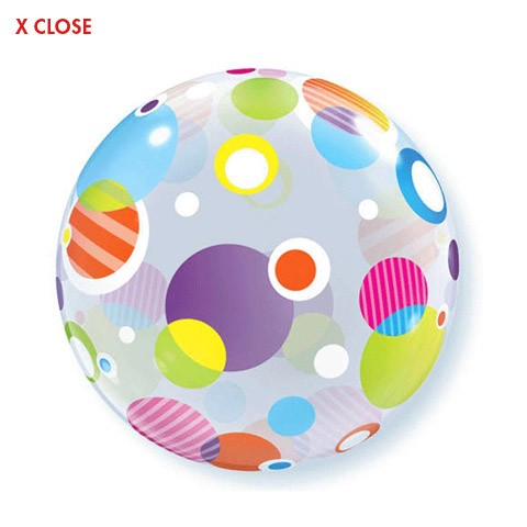 Polka Dots<br> Bubble Balloon