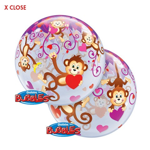 Love Monkeys<br/>22in Bubble Balloon