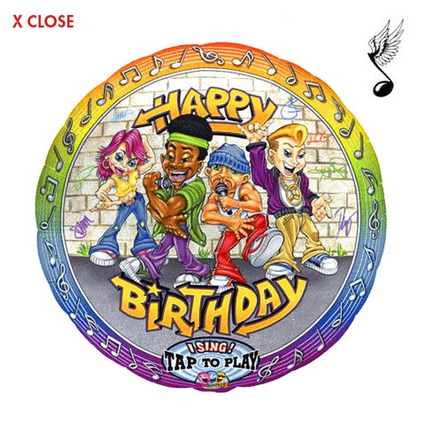 Hip Hop Birthday<br> Singing Balloon