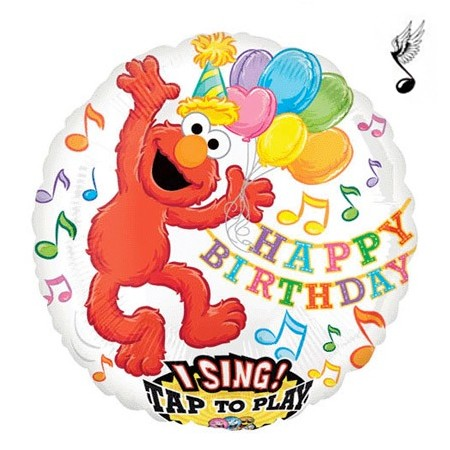 Elmo Birthday<br> Singing BAlloon