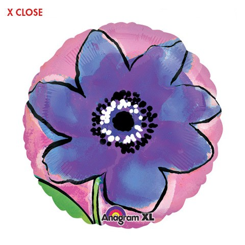 Painted Purple Flower<br> Balloon
