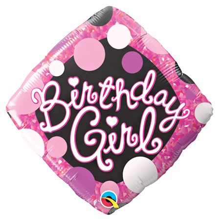Birthday Girl<br> Pink Balloon
