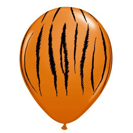Tiger Stripes<br> Orange Balloon (Latex 11in w/Hi-Float)