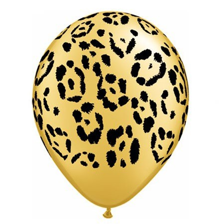 Leopard Spots<br> Gold Balloon (Latex 11in w/Hi-Float)
