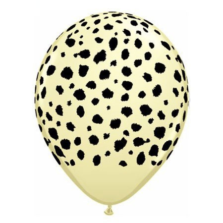 Cheetah Pattern<br> Ivory Balloon (Latex 11in w/Hi-Float)