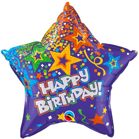 Birthday Star<br> Balloon (Design may vary)