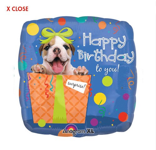 Puppy Surprise<br> Birthday Balloon