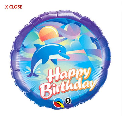 Jumping Dolphin<br> Birthday Balloon