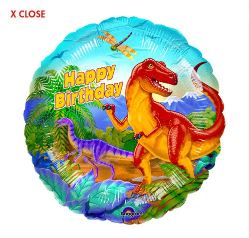 Dinosaur<br> Birthday Balloon