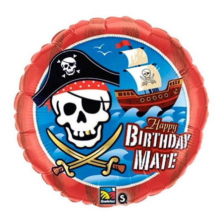 Birthday Mate<br> Pirate Balloon