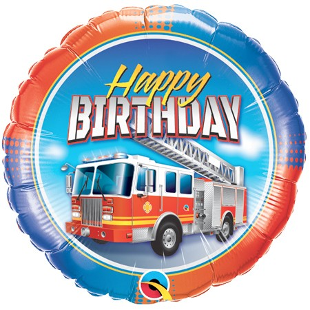 Fire Truck<br> Birthday Balloon