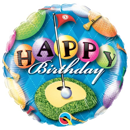Golfer<br> Birthday Balloon
