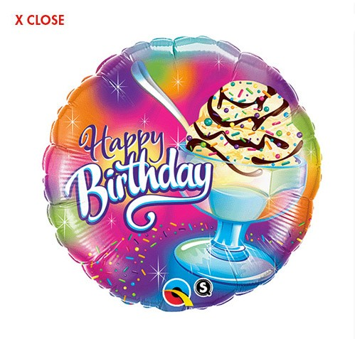 Ice Cream Sundae<br> Birthday Balloon