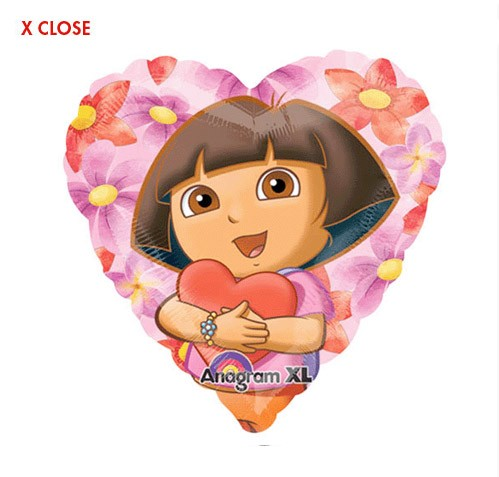 Dora Hearts Balloon<br>(See Substitution Notice)