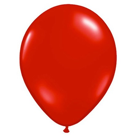 11in Bright Red Latex Balloon