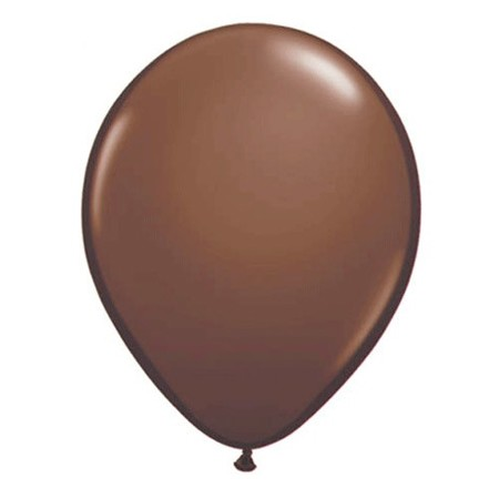 11in Chocolate Brown<br> Latex Balloon(Click for Float Time)