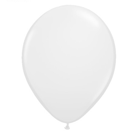 11in White<br>Latex Balloon