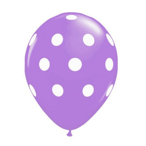 11in Polka Dot Balloon<br> Spring Lilac<br> LIMIT 5 PER ORDER(Click for Float Time)