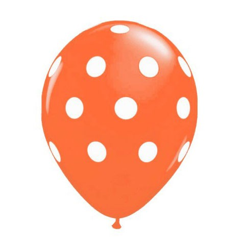 11in Polka Dot Balloon<br> Mandarin Orange<br> LIMIT 5 PER ORDER(Click for Details)