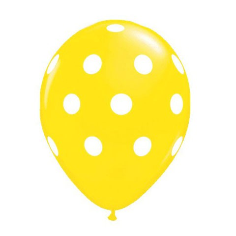 11in Polka Dot Balloon<br> Citrine Yellow<br> LIMIT 5 PER ORDER(Click for Details)