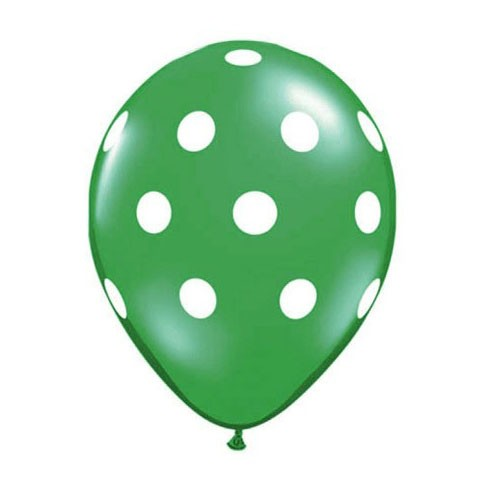 11in Polka Dot Balloon<br> Emerald Green<br> LIMIT 5 PER ORDER(Click for Details)