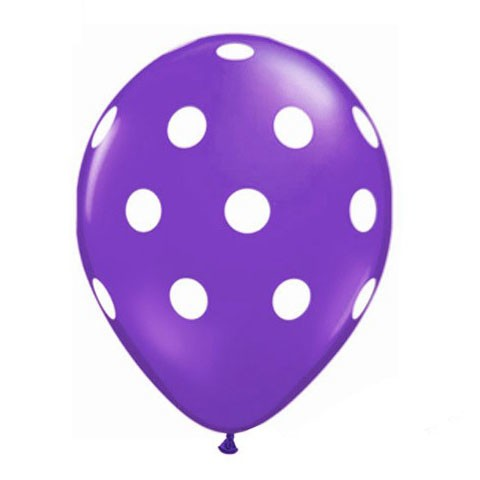 11in Polka Dot Balloon<br> Quartz Purple<br> LIMIT 5 PER ORDER(Click for Details)