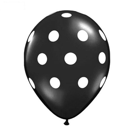 11in Polka Dot Balloon<br> Onyx Black<br> NO ORDERING LIMIT (Click for Details)