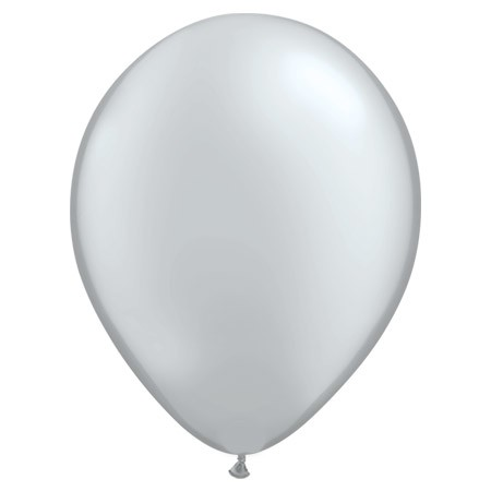 16in Metallic Silver<br>Latex Balloon