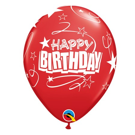 11in Birthday Balloon<br> Ruby Red(Click for Details)