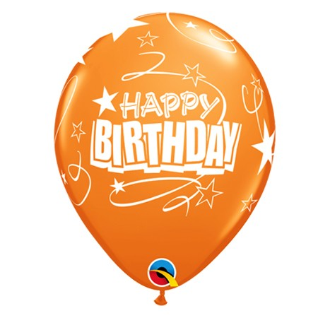 11in Birthday Balloon<br> Mandarin Orange(Click for Details)