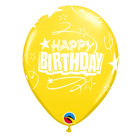 11in Birthday Balloon<br> Citrine Yellow(Click for Details)