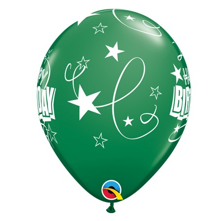 11in Birthday Balloon<br> Emerald Green(Click for Details)