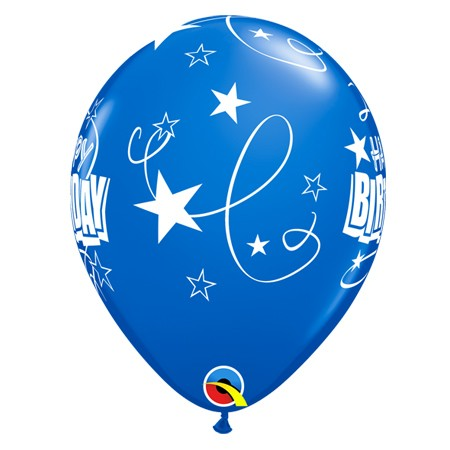11in Birthday Balloon<br> Sapphire Blue(Click for Details)