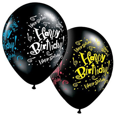 11in Black Balloon<br> Over The Hill(Click for Details)