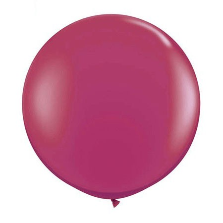 36in Round Latex Sparkling Burgundy(Click for Details)