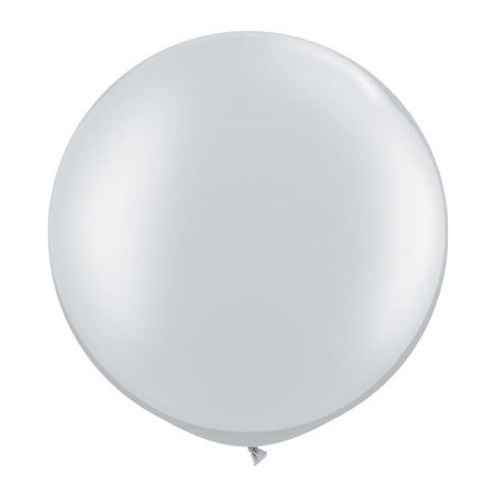 30in Round Latex Metallic Silver(Click for Details)