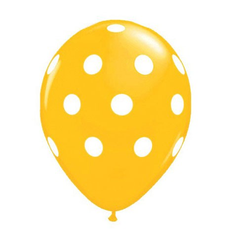16in Polka Dot Balloon<br> Goldenrod<br> LIMIT 5 PER ORDER(Click for Details)