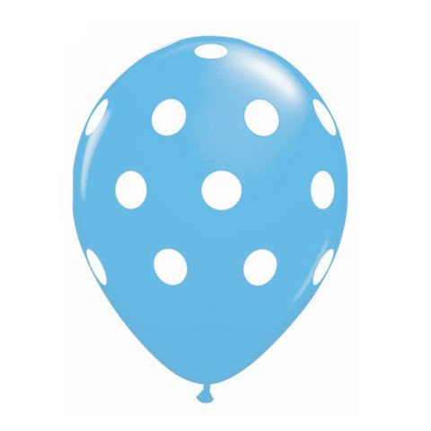16in Polka Dot Balloon<br> Pastel Blue<br> LIMIT 5 PER ORDER(Click for Details)