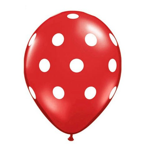 16in Polka Dot Balloon<br> Ruby Red<br> LIMIT 5 PER ORDER(Click for Details)